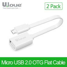 ULOVE Micro USB OTG Cable [2 PACK] Adapter for Sony Xiaomi Meizu Nokia N810 Nexus 7 Android mobile phone Tablet MP3