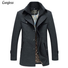 Winter Thicken Warm Overcoat Mens Wool Coat Men Turn-down Collar Fashion Design Jackets Outwear Casual Style Long Clothing XXXL