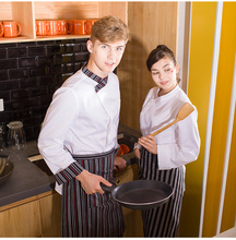 Restaurant Hotel Kitchen Men Woman Chef Jackets Long Sleeve Stand Collar Chef Uniform,Baker Shop Work Wear,J75(China)