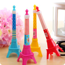 12pcs/lot Stationery Stereo Tower Shape Ballpoint Pen Mini Cute Eiffel Tower Pen Kawaii Stationery Gifts For Kids Girls(China)