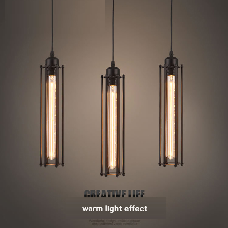 SINFULL Vintage Black Iron Pendant Lights Bar Loft Long Shape bedroom suspension Lamps retro living room indoor lighting lustre<br>