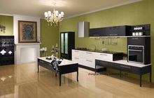 High gloss/lacquer kitchen cabinet mordern(LH-LA066)(China)