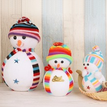 1PCS Snowman Doll Christmas Socks Lovely Exclusive Christmas Decoration Tree Decorations Children's Gift Tiny Toy
