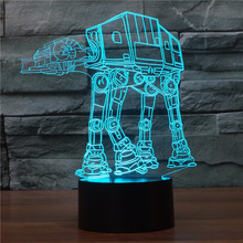 Star Wars Troop Dog Visual LED Sleeping Nightlight Touch USB Table Lampara Novelty Colorful Dimming Lamp