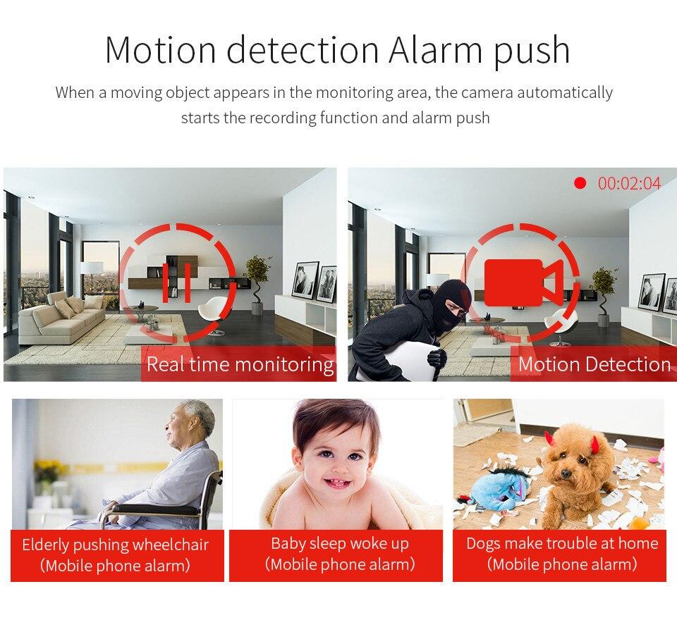 Wistino CCTV HD 960P WIFI IP Camera Alarm Wireless VR Panoramic Camera Fisheye 360 Degree Video Baby Monitor Home Surveillance (10)