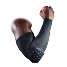 High Quality HEX Compression Shooter Sleeve Elastic Breathable Basketball Football Brace Support Lengthen Arm Sleeve Elbow Pads