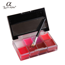 Rosalind Lips Makeup Brand Girl Woman Pro 8 Colors Make Up Lip Gloss Lipstick Cream Palette Set Beauty Brand Love Alpha