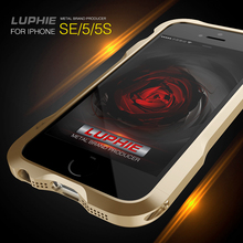 Luphie Luxury Thin Aluminum Metal Bumper Frame Skin Protective Cover For iPhone 5 / 5s / SE Mobile Phone Cases Capa Funda Coque(China)