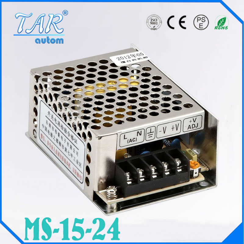 24V 0.7A MS-15-24 MINI led driver, mini switching power supply,min power switch,mini size smps with overload protection<br><br>Aliexpress