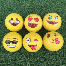 Emoji Golf Ball Random Expression Durable Cute Funny Practice Rubber Ball Golf Ball Gift - Color Random