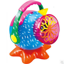 Soap bubble machine creative bubble blower, ABS plastic foam manufacturers toy automatic bubble gun free shipping baby toys(China)