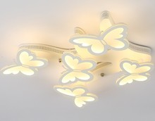 Butterfly section bedroom lamp warm romantic artistic creativity modern minimalist home room led ceiling lamp