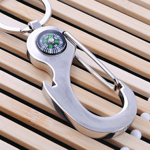 Wholesale New Arrival Novelties, Compass Keychain Compass Multifunctional Keychain Small Gift