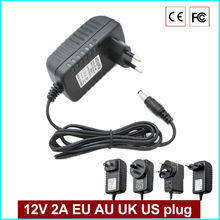 EU Type Adapter DC 12 V 2A CCTV Surveillance Camera Power supply EU US AU UK plug-in power supply(China)