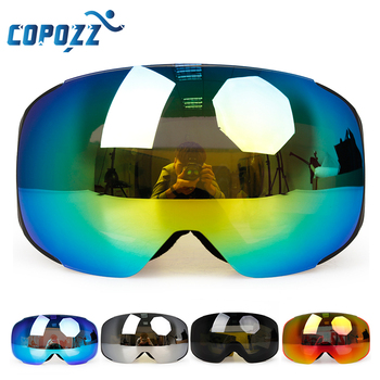 Magnet ski goggles New COPOZZ brand double layers UV400 anti-fog big ski mask glasses skiing men women snow snowboard goggles