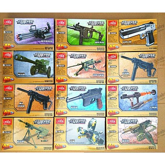 4D Plastic Assembled Gun Model 1:5 Scale Cross Fire Military Model Intellectual enlightenment Toy For Boys 12 PCS/set<br><br>Aliexpress