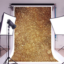 Mayitr 150X90cm Vinyl Gold Glitters Photo Backdrop Cloth Glitter Golden Spot Props Photography Background For Photo Studio