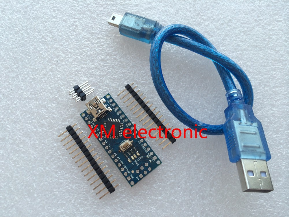 Free shipping ! 10set/lot Nano v3.0 controller compatible nano CH340 USB driver with USB CABLE nano 3.0 3