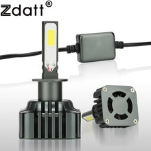 Zdatt 1Pair Super Bright 80W 8000Lm H1 Led Lamp High Power Headlight 12V 24V High Beam Lights Car Led Light Automobiles(China)