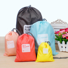 4PCS/LOT Simple And Lovely Polyester Travel Storage Bags Used To Storage Clothes Portable Bag Free Shipping