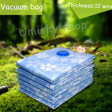 8 pcs Storage vacuum bags for clothes free hand pump storage holder Space bag Compression bag for quilt Free shipping