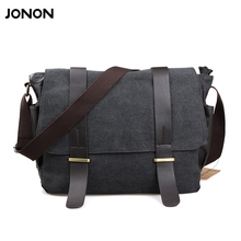 The new 3 color Pockets Messenger Bag Men's Vintage Canvas School Military Shoulder Bag Retro Style Coffee Men's Crossbody Bags(China)
