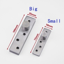 Stainless Steel 73*18/100*24mm 360 Degree Rotating Door Pivot Hinges Suit For Internal Doors Rotating Hinge Furniture hardware(China)