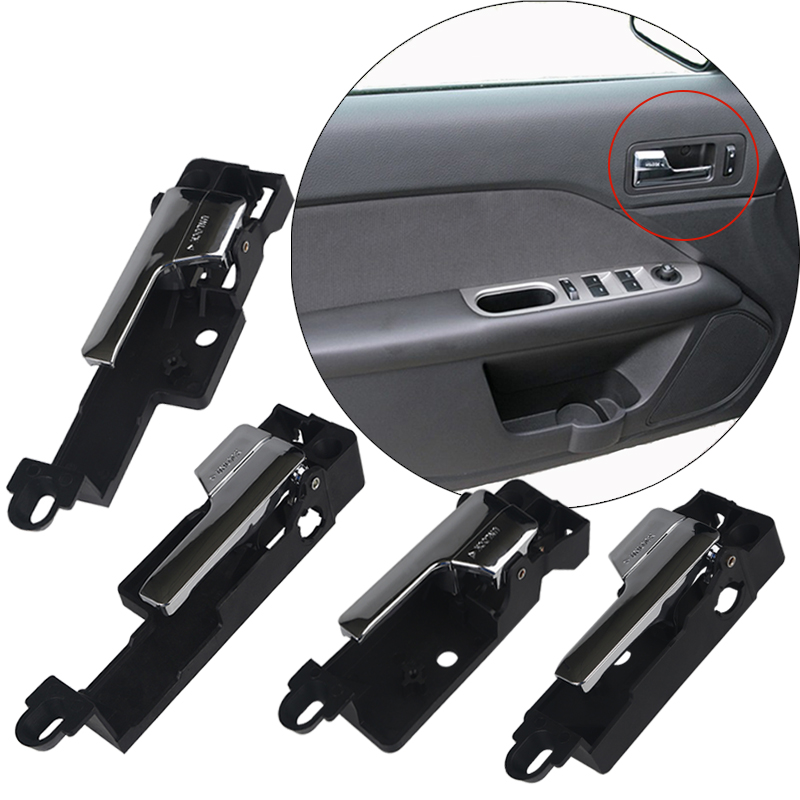 2 PCS Front Left Right Inside Chrome Door Handle NEW 6E5Z5422601 FOR Ford Fusion