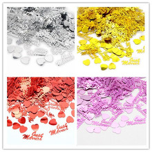 1bag/lot(approx350pcs) Table Party Scatters Confetti Gold Silver red Just Married heart Wedding Decor 043007014