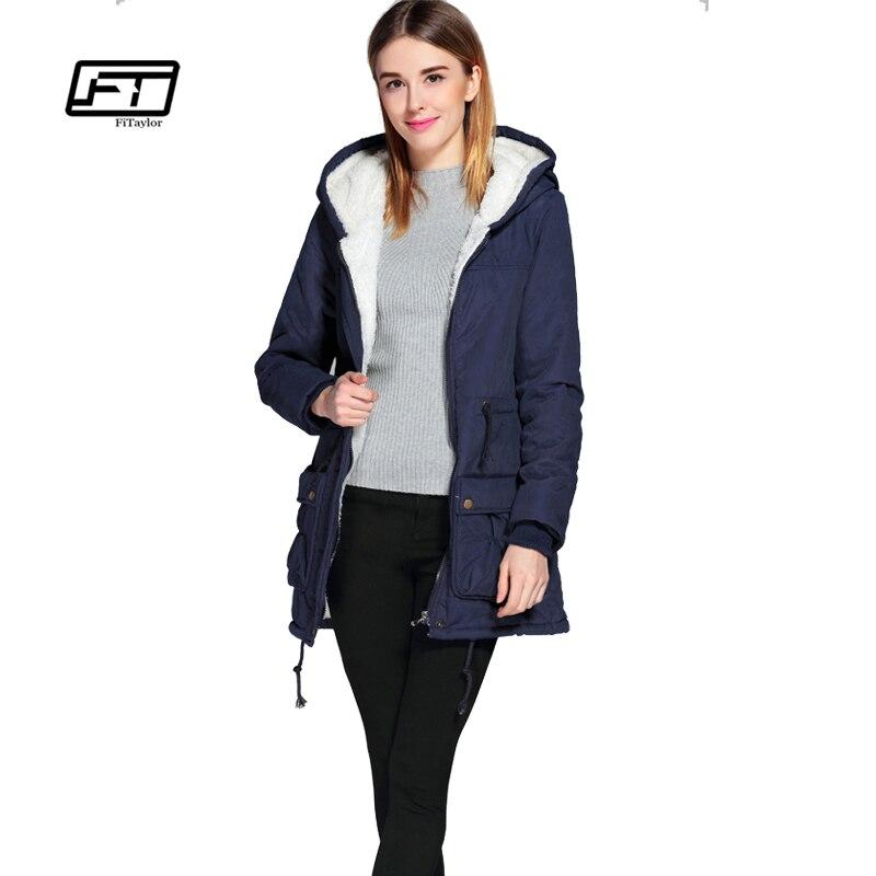 new winter padded coats women cotton wadded jacket medium-long  Parka thick warm plus size hooded quilt snow outwear abrigosÎäåæäà è àêñåññóàðû<br><br>