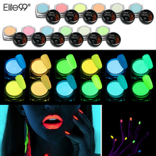 Elite99 Luminous Pigment Powder Mixed With UV Gel Nail Polish Glow In The Dark Night Glow Coating Powder Nail Art Decorations