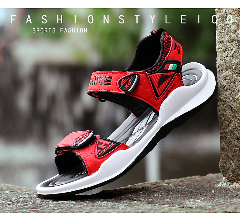Children's Shoes Summer Open Toe Boys Sandals Sports 11 Non-slip 12 Primary School Students 15 Years Old Children's Beach Shoes 10 Online shopping Bangladesh