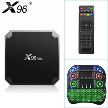 Original X96mini Android 7.1 X96 mini Smart TV BOX 4K*2K Quad Core Amlogic S905W Support 2.4WIFI+IR Cable