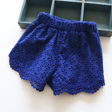 Kids clothes Girls Shorts Lace Pants Kids Summer Hot Pants Cotton Lace Baby Girl Beach Shorts Children Frills Hem Cute Trousers