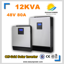 Solar Inverter 12Kva 9.6KW Off Grid Inverter 48V 220V 380V 80A MPPT Inverters Pure Sine Wave Hybrid Inverter 60A Battery Charger