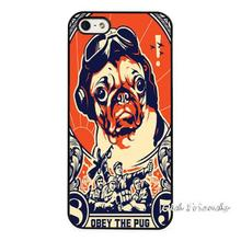 Pug Cute Obey Pet Dog Phone Case Cover for iphone 4 5s 5c SE 6 6s 6plus 6splus Samsung galaxy s3 s4 s5 s6 s7 edge