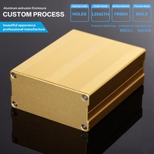 Small aluminum amplifier case 76*35*100 mm (wxhxl) for industrial shell aluminum extrusion enclosure