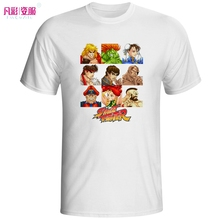 Nine Characters T Shirt Street Fighter Design Arcade Game Creative T-shirt Fashion Novelty Style Tee Cool Unisex Tshirt