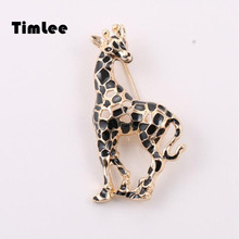 Timlee X061 New Fashion Review Giraffe Brooch Pins, Popular Ladies Accessories Wholesale
