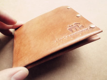 DIY handmade leather wallet drawing paper pattern, CDD-18 minimalist short clip