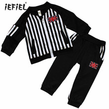 2017 New autumn/spring Baby Boys clothing Sets kids 2pcs Coat+ Pants children Cute Casual suit Sport kids boys outfits UK Flag