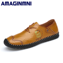 Buy AMAGINMNI Brand 2018 New Comfortable Casual Shoes Loafers Men Shoes Split Leather Shoes Men Flats Fashion Hot Sale shoes for $26.97 in AliExpress store