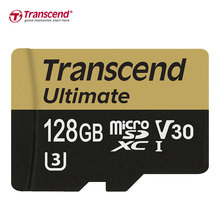 Transcend U3 Memory Card 128GB 64GB SDXC Class 10 32GB 16GB SDHC UHS-I U3 Memory Cards HD 3D 4K Video Microsd Card With adapter(China)