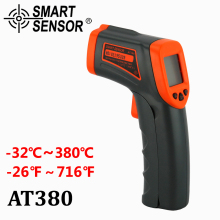 AT380 Digital Infrared Thermometer LDC IR -32~380 C Non-Contact IR aquarium Laser Gun Pyrometer temperature Thermometer Meter
