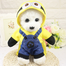 Pet Dog Clothes Funny Spring Autumn Dog Four Foot Standing Jackets Hoodies Teddy Bichon Frise Pomeranian Dog Clothes