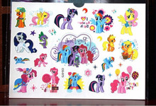 My Little Pony Toy Child Temporary Tattoo Body Art Flash Tattoo Stickers17*10cm Waterproof Henna Tattoo Car Styling Wall Sticker(China)