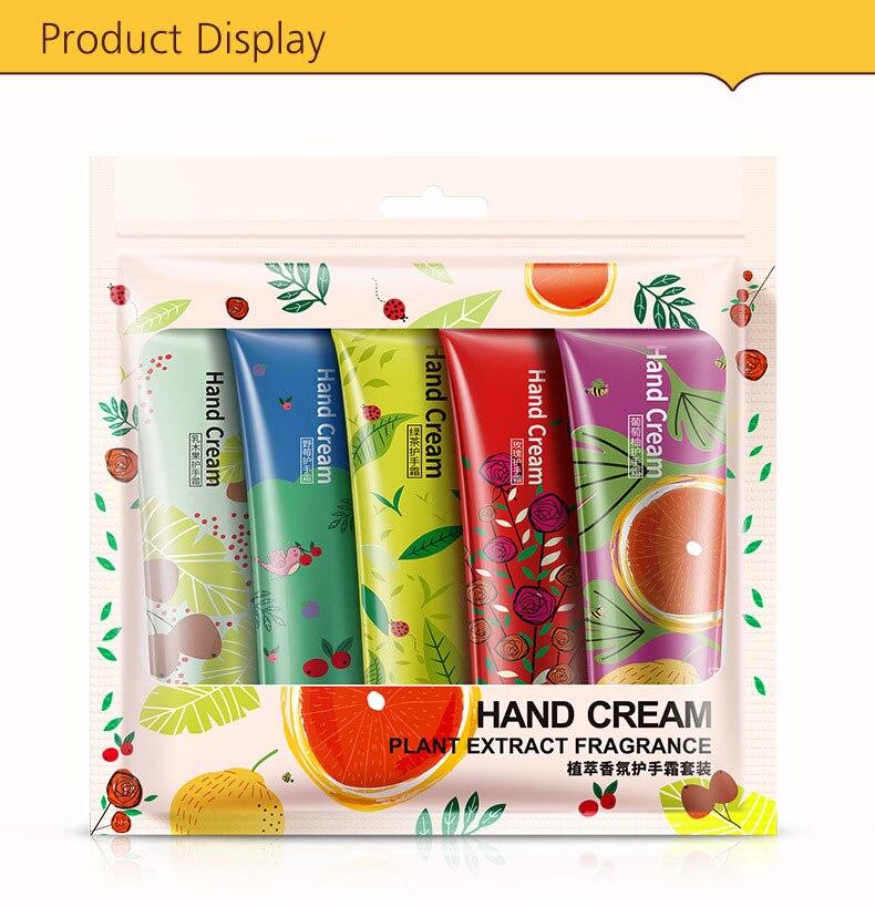 Whitening Rejuvenation Hand Cream Moisturizing Nourishing Repair Anti Aging Anti Chapping Hand Care Beauty 5pcs Set 16