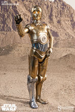 Sideshow 2171 1/6 Star Wars Gold Robot C3po Collection Action Figure for Fans Holiday Gift(China)