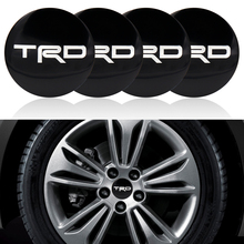 YAstarsz 4pcs Black 56.5mm Toyotas TRD Wheel Center Wheel Head Logo Badge Decoration Car Style Car Personalized Parts(China)