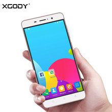 XGODY 5.5 Inch Phone 1G RAM 8GB ROM Android 6.0 Quad Core Dual SIM Cards with Micro USB 3G Telefone Celular Smartphone(China)